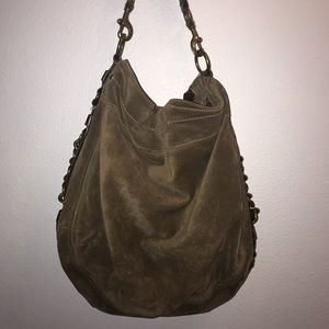 Large Coach suede bag